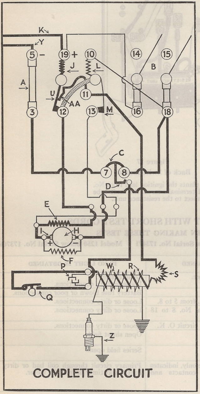 Circuits Explained The Official Delco Light Plant Collectors Site Amp Meter Wiring Diagram Resistor Cranking Circuit